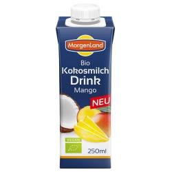 Kokosmilch-Drink mit Mango