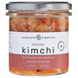 Kimchi mit Rettich aus Bayern im Glas, milchsauer fermentiert