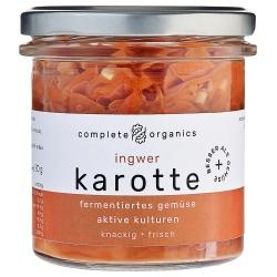 Karotten mit Ingwer aus Bayern im Glas, milchsauer fermentiert