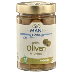Grüne Oliven ohne Stein in Lake