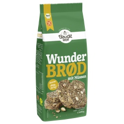 Brotbackmischung Wunderbrød mit Nüssen, glutenfrei