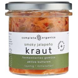 Kimchi mit Weißkohl aus Bayern im Glas, milchsauer fermentiert
