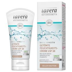 Getönte Feuchtigkeitscreme basis sensitiv für hellen Hautton LSF 10