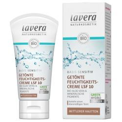 Getönte Feuchtigkeitscreme basis sensitiv für mittleren Hautton LSF 10