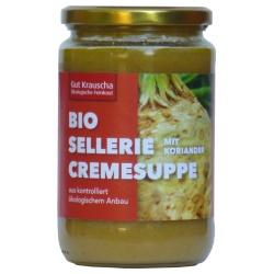 Sellerie-Cremesuppe mit Koriander
