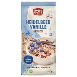 Heidelbeer-Vanille-Müsli, ungesüßt