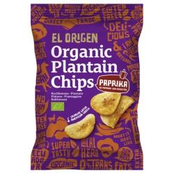 Kochbananen-Chips mit Paprika