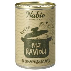 Ravioli mit Pilzen in Champignonsauce