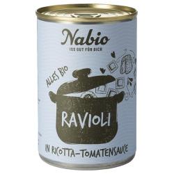 Ravioli mit Ricotta in Tomatensauce