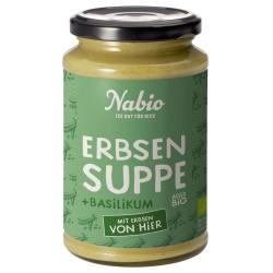 Erbsen-Cremesuppe mit Mais