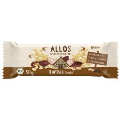 Hafer-Flapjack mit Zartbitterschokolade