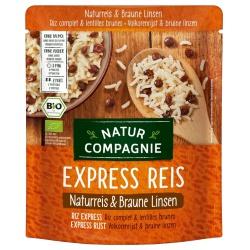 Express-Reis-Mischung mit Naturreis & braunen Linsen