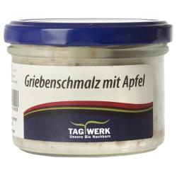 Griebenschmalz mit Äpfeln aus Bayern