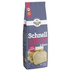 Fünf-Korn-Schnellbrot-Backmischung, glutenfrei