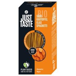 Glas-Spaghetti aus Süßkartoffeln