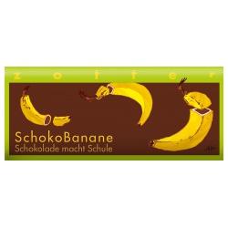 Milchschokolade mit Bananencreme, handgeschöpft