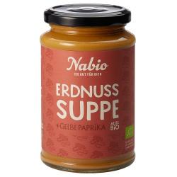 Erdnusssuppe mit gelber Paprika
