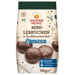 Mini-Lebkuchen mit Zartbitterschokolade, glutenfrei