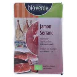 Jamón Serrano ETG, luftgetrocknet, geschnitten