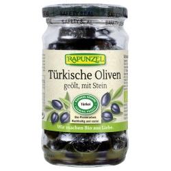 Schwarze Oliven mit Stein, geölt