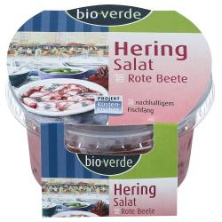 Heringssalat in Rote-Bete-Sauce
