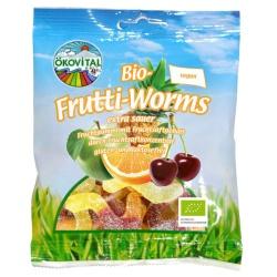 Fruchtgummi Frutti Worms ohne Gelatine