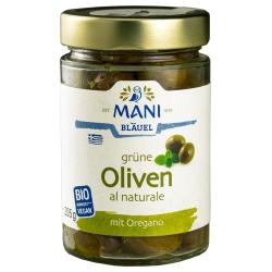 Grüne Oliven al naturale mit Stein, geölt