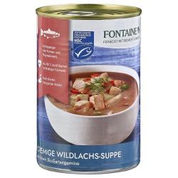 Cremige Wildlachs-Suppe