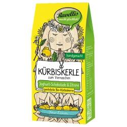 Kürbiskerne in weißer Schokolade mit Limone