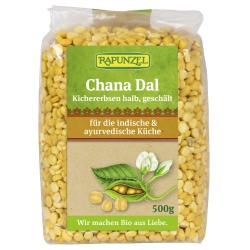 Chana-Dal (Kichererbsen, halb, geschält)