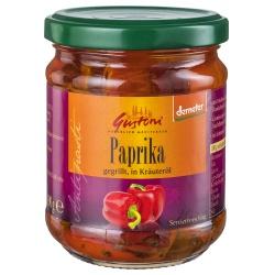Gegrillte Paprika in Kräuteröl
