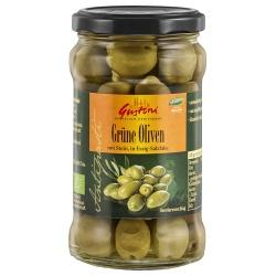 Grüne Oliven mit Stein in Lake