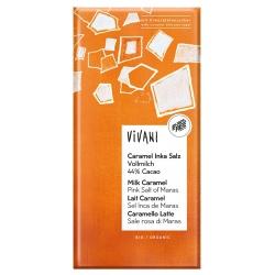 Caramel-Schokolade mit Inka-Sonnensalz