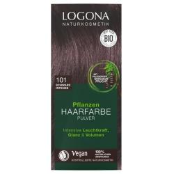 Pflanzen-Haarfarbe-Pulver schwarz intense