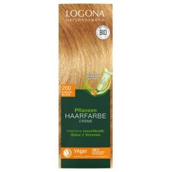 Pflanzen-Haarfarbe-Creme kupferblond