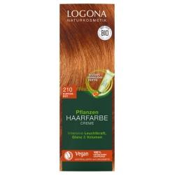 Pflanzen-Haarfarbe-Creme kupferrot