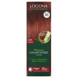 Pflanzen-Haarfarbe-Creme weinrot